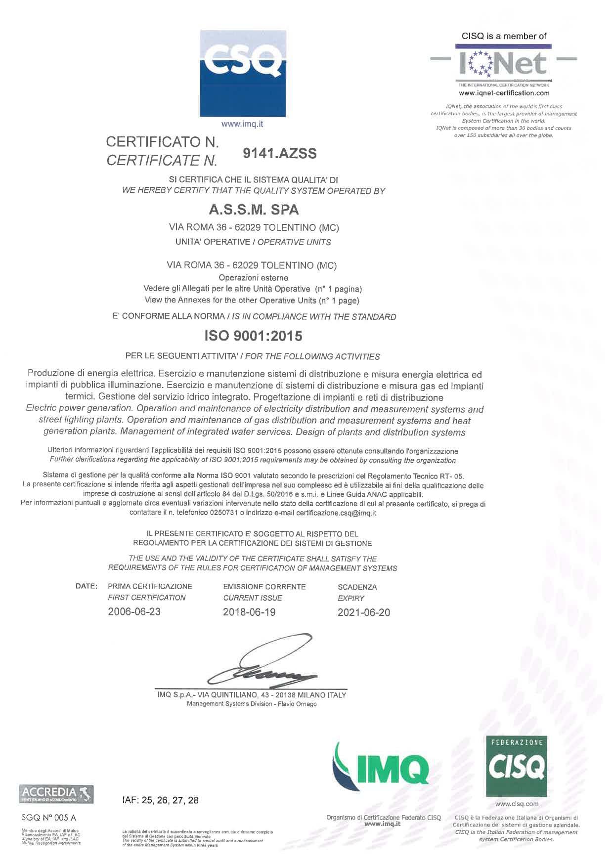 ISO 9001 Pagina 1